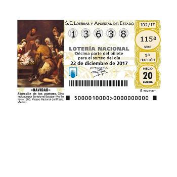 Lotería Navidad CSCAE 2017